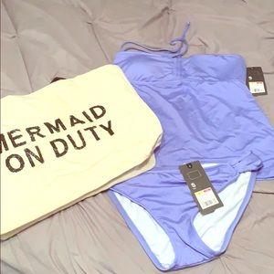 NWT Mossimo lavender tankini bathing suit